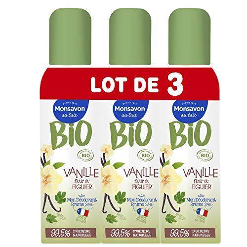 Monsavon Déodorant Bio Femme Spray Senteur Vanille &...