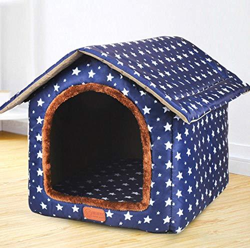 Pet Nest Kennelcomfortabele hondenbank Kattennest Verwijderbaar huisdierbed Makkelijk schoon te maken Hondenhok Kennel Princess Pet Slaapmat Puppy 56 * 56 * 27cm