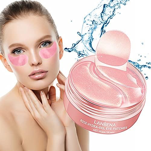 60pcs Anti-Envejecimiento Hidratante Máscara de Ojos Anti-Arrugas Hidratante para Círculos Oscuros Bolsas de Ojos, Círculos Oscuros, Cremas Hidratantes, Ojos Hinchados