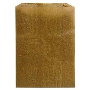 """Hospeco KL Waxed Kraft Feminine Hygiene Liner Bag with Gusset (Case of 500), 10.25"""" x 7.5"""" x 3.5"""