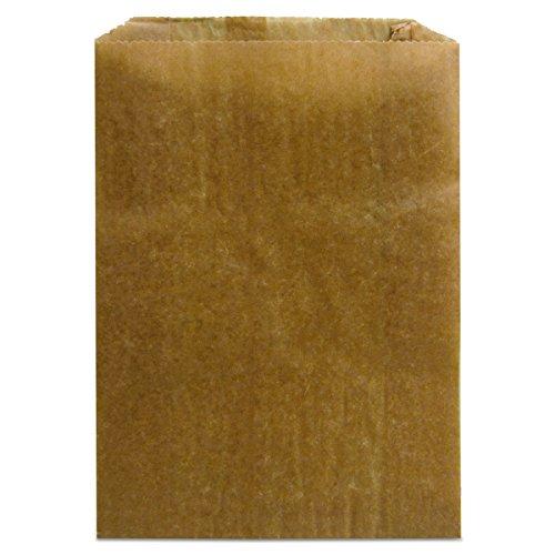 Hospeco KL Waxed Kraft Feminine Hygiene Liner Bag with Gusset ,10.25 x 7.5 x 3.5,(Case of 500)