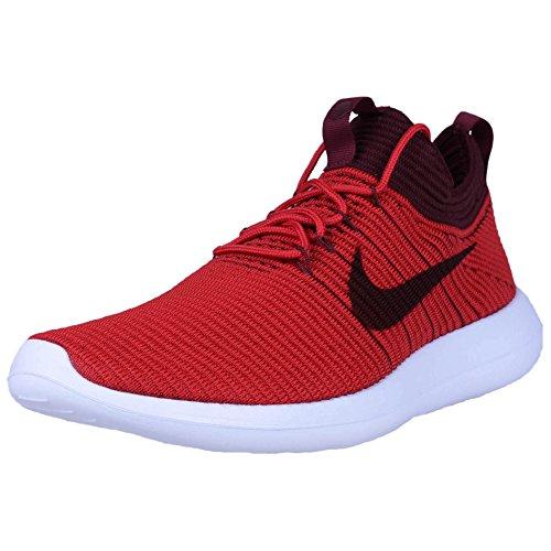 Nike Roshe Two Flyknit V2 mens running-shoes 918263-600_10.5 - University Red/Dark Team Red
