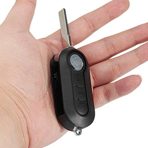 AAlamor 3 knoppen zwarte afstandsbediening sleutelhanger Fob blanco Flip Blade voor Citroen Relais Jumper