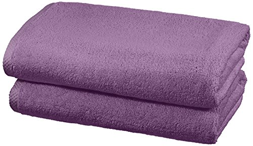 AmazonBasics - Juego de 2 toallas de secado rápido, 2 toallas de baño - Lavanda