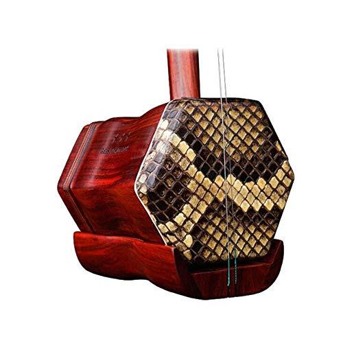 Erhu, Palisander Erhu Instruments, Leaflet Palisander Professionelle Sortierer Musikinstrumente, ethnische Instrumente, Erwachsene Kinder Instruments (Größe: 83 * 13cm) HUERDAIIT (Size : 83 * 13cm)