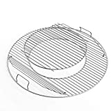 Uniflasy 8835 Hinged Cooking Grate for Weber 22.5 Inch One-Touch Silver Bar-B-Kettle Master-Touch Performer and Other 22.5