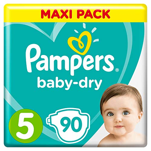 Pampers Baby-Dry Windeln, Gr. 5, 11kg-16kg, Dreier-Pack (1 x 90 Windeln)