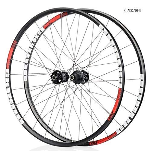 ZLYY Juego de ruedas para bicicleta de carretera de 29 pulgadas 700C aleación de aluminio borde sellado 30mm Bicicletas Ruedas QR disco freno 8 9 10 11 velocidad,rojo