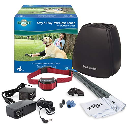 PetSafe Stay & Play Wireless Fence for Stubborn Dogs  Above Ground Electric Pet Fence  from the Parent Company of Invisible Fence Brand