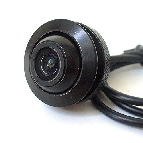 maxxcount Mini Front- und Seiteneinbaukamera mit einstellbarem Blickwinkel und Distanzlinien (170°, CMOS, NTSC, 420TV, IP67)