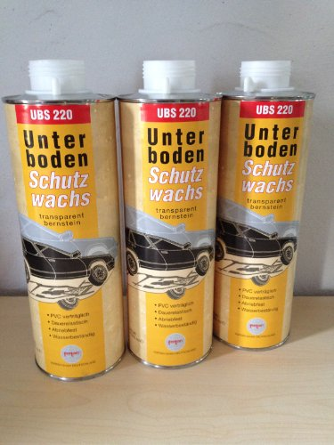 3 X (3X1Liter)Fertan UBS Wachs-Unterbodenschutz 1 Liter Kartusche