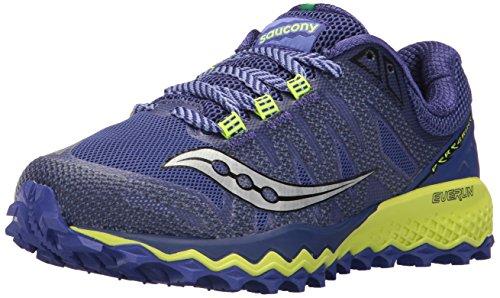 Saucony Women's Peregrine 7 Running Shoe, Blue Citron, 8...
