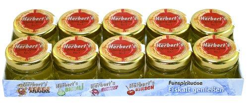 Original Herbert´s Freche Früchtchen - Honig Birne No.1 - Obstbrand mit einer Frucht (10x 0,02L 29% Vol.)