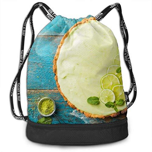 KKLDOGS Backpack Drawstring Bag Key Lime Pie Gym Drawstring Bags