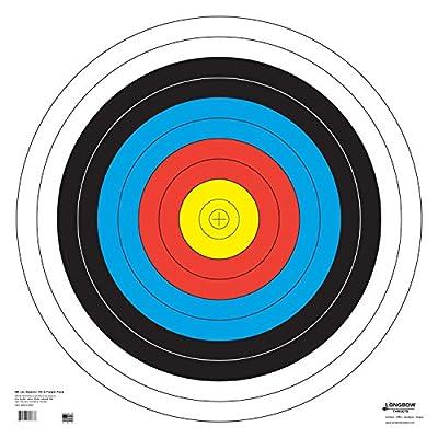 Archery 40cm & 80cm Targets by Longbow (15 Pack (80cm) Folded, 80cm Archery Paper)