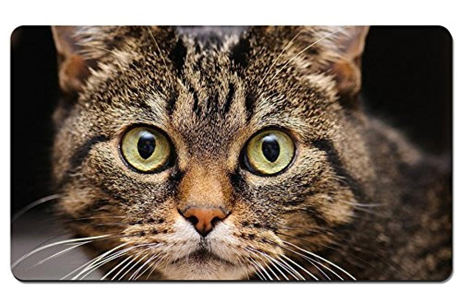 増加する平等ハンドブック猫クローズアップ、顔、目、ウィスカー パターンカスタムの マウスパッド 動物 デスクマット 大 (60cmx35cm)