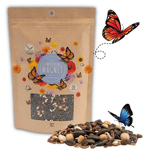 500g Schmetterlingswiese Samen für eine bunte Blumenwiese - Farbenfrohe & nektarreiche Wildblumensamen Mischung für Schmetterlinge