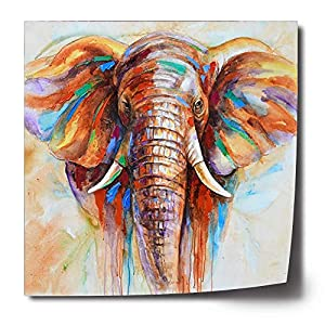 Free Cloud Crescent Art Original Design Modern Abstract Elephant Wall Art, Oil Painting on Canvas Print Wall Paintings for Living Room