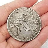 Colección de Monedas Moneda Conmemorativa 1791 Acuario Estadounidense Moneda Conmemorativa extranjera Rústico 36 Regalos Divertidos para coleccionistas