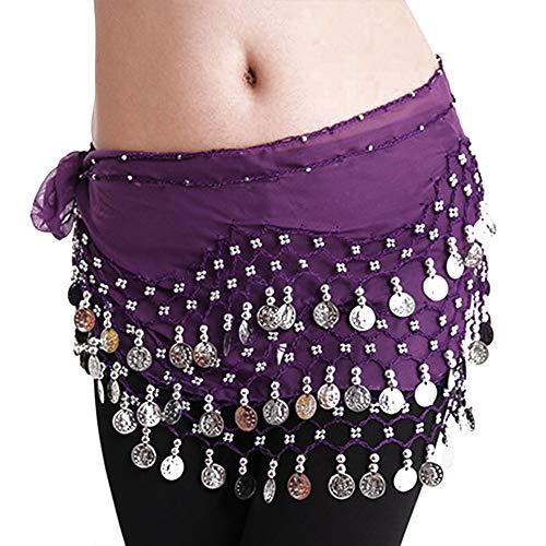 El Vientre De Baile De Las Mujeres De La Correa De La Gasa De Monedas De Oro Que Cuelga Falda De La Cadera Abrigo De La Bufanda De La Correa Para La Danza Del Vientre