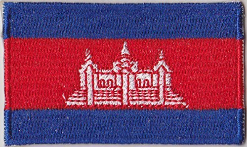 Flaggen Aufnäher Patch Kambodscha Fahne Flagge - 6 x 3,5 cm