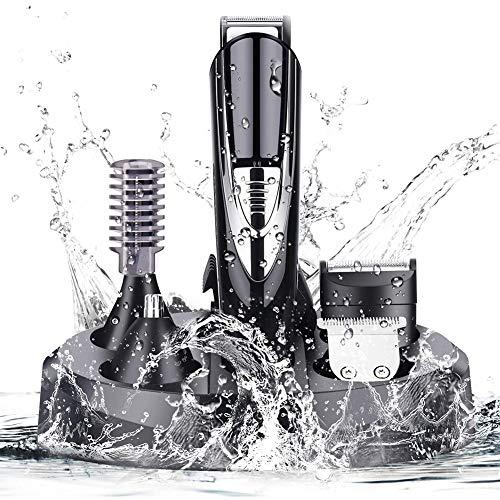 Beard Trimmer Kit For Me, draadloze tondeuse tondeuses Waterdicht met 4 opzetstukjes voor Scheren, detailleren, Grooming baarden, snorren, Stoppels, oor