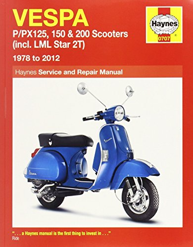Vespa P/PX125, 150 & 200 Scooters Inc LML Star 2T Service & Repair Manual: 1978-2012 (Haynes Service and Repair Manuals) 9th (ninth) Revised Edition by Shoemark, Pete, Mather, Phil, Cox, Penny published by J H Haynes & Co Ltd (2013)