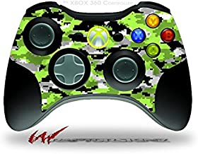 WraptorCamo Digital Camo Neon Green - Decal Style Skin fits Microsoft XBOX 360 Wireless Controller (CONTROLLER NOT INCLUDED)