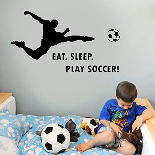 Tianpengyuanshuai Eet slaap spelen voetbal muur sticker sport muur kunst sticker jongen slaapkamer cool ontwerp
