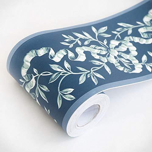 ZTKBG Vintage Bloem Behang Gratis en Stock Wand-Gratis Badkamer Keuken-Decoratieve stickers (3.9 * 393 in)