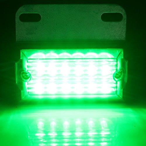 MASUNN Paire 24V 12-Voyant indicateur latéral LED Lampe de Camion remorque Commerciale Pick-up - Vert