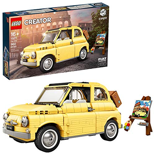 LEGO Creator Expert Fiat 500 10271 Toy Car Building Set for Adults and Fans of Model Kits Sets Idea, New 2020 (960 Pieces)