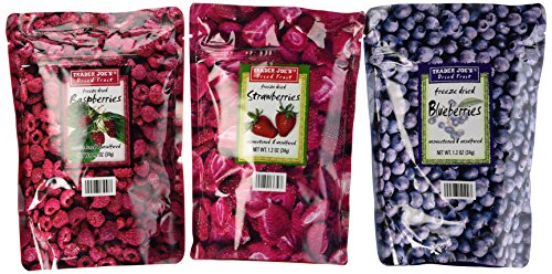 Trader Joe#039s Freeze Dried Fruit Variety Pack Blueberry Strawberry Raspberry