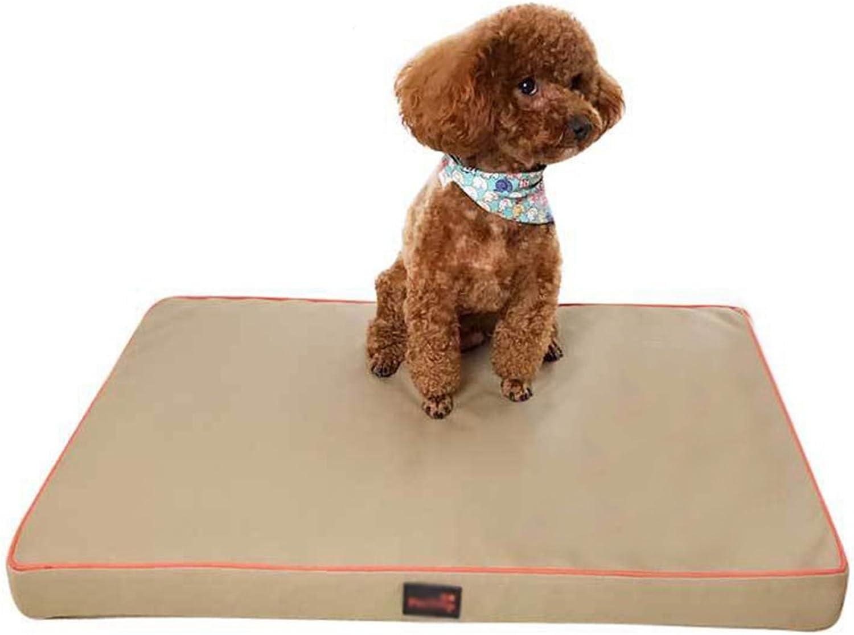 LvRao Pet Flat Beds Foldable Dogs Cats Cushion Pad Durable Portable Sofa Mattress (Khaki, XL  120  90  5.5CM)