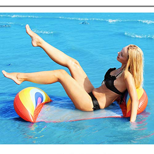 Swimming Pool Float Hammock, Portable Multifunctional Inflatable Water Saddle, Lounge Chair, Hammock, Drifter(Rainbow)
