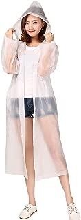 Luckyiren Unisex Raincoat Rain Poncho Jacket Slicker Outwear with Hoods and Sleeves for Adults [Thicker & Reusable & Lightweight] Emergency Rain&Wind Coat Cloak Wear for Man Women, for Best Friend