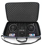 CASEMATIX DJ Controller Travel Case Compatible with Hercules Inpulse 500 - Hard Shell DJ Mixer Carrying Case with Shoulder Strap & Impact-Absorbing Foam Compatible with Hercules DJControl Inpulse 500