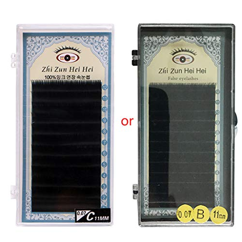 suoryisrty 3D Volume Individual Faux Mink Eyelash Extensions 0.07mm C Curl 8/9/10/11/12mm 11MM