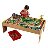 2. KidKraft Waterfall Mountain Train Set and Table