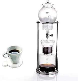 TeFuAnAn 600ml グラス アイスコーヒー メーカー ドリッパー ポット ウォータードリッパー 水出し 耐熱ガラス コーヒーサーバー コーヒーフィルター ウォータードリップ エスプレッソ手作り 600ml-1000ml 6-8人