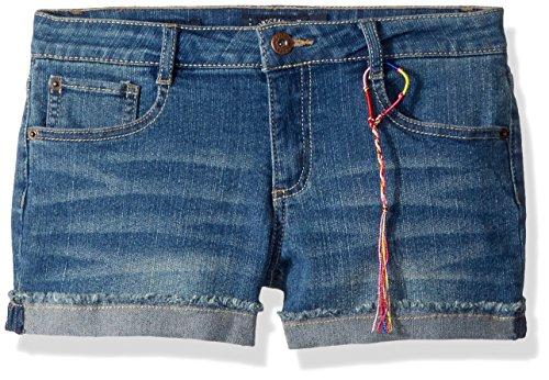 Lucky Brand Big Girls' 5-Pocket Cuffed Stretch Denim Short, Riley Ada wash, 12