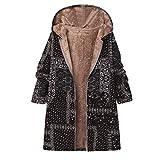 Momoxi Plüsch Damen Jacke Plus Size Warm Weich Print Weihnachtsjacke Geschenkidee Für Winter Bekleidung Jacket Fleece Mode Hallenschuhe handstaubsauger Kapuzenpullover handkreissäge