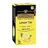 Twinings Lemon Tea, 25 Teabags, Premium Black Tea with Lemon, English Classic Taste