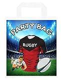 Bolsas de fiesta temáticas de rugby, para regalos, botín, eventos, colores de los cruzados (paquete de 6)