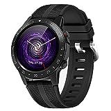 Fenshan223 GPS Smart Watch Running Sports GPS GPS GPS Bluetooth Téléphone Smartphone Étanche Coeur Compass Boussole Altitude Horloge (Color : Black)
