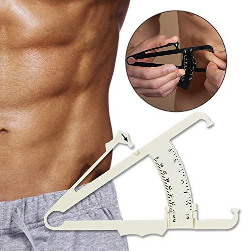 Body Fat Calipers, Fat Measure Caliper for Accurately Measuring Caliper Measurement Tool for Body Fat with Body Fat Percentage Measure Charts