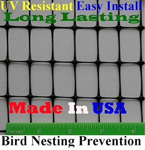 Pinnon Hatch Farms Bird Block Netting Fence 5' X 330' UV (.7' x 1' Mesh) - Poultry Aviary Quail