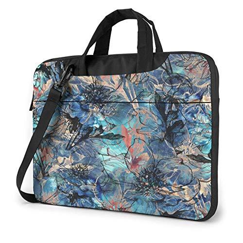 Laptop Shoulder Bag,Tropical Hibiscus Graphic Floral Shockproof Laptop Sleeve Cover Business Messenger Bag Briefcase Handbag Case 15.6 inch