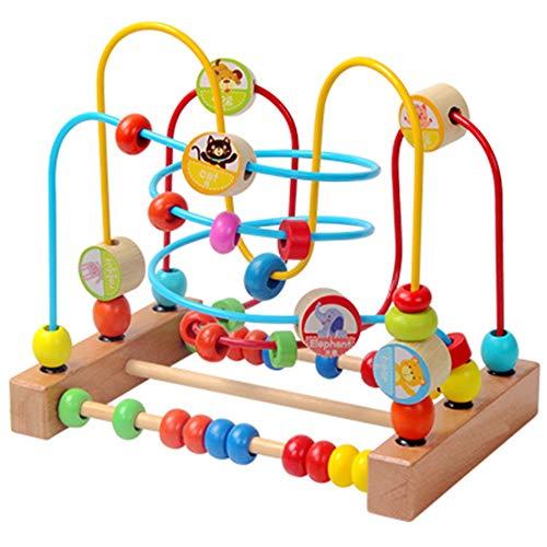 Xyanzi Bébé Jouets Jouets Éducatifs pour Enfants, 1-2 Ans Bébé Précoce Éducation Roller Coaster Perles Rondes Jouets Éducatifs pour Tout-Petits (Couleur : Round Around The Bead)
