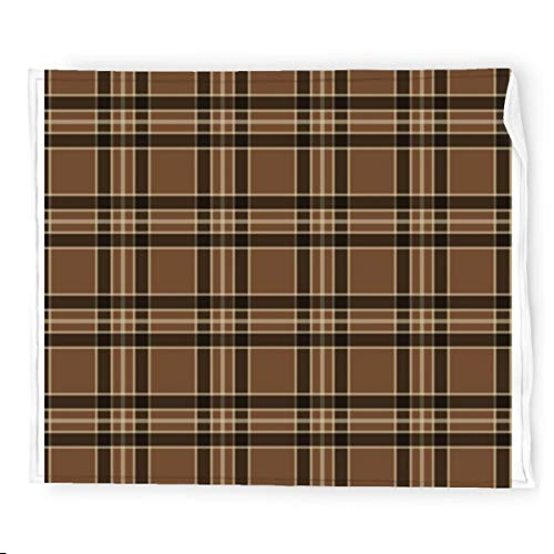 Rustic Brown Vintage Plaid Flannel Blanket Bedding Throw Blanket Soft Warm Cozy Colorful Decorative Blanket for Couch, Sofa 50'x60'